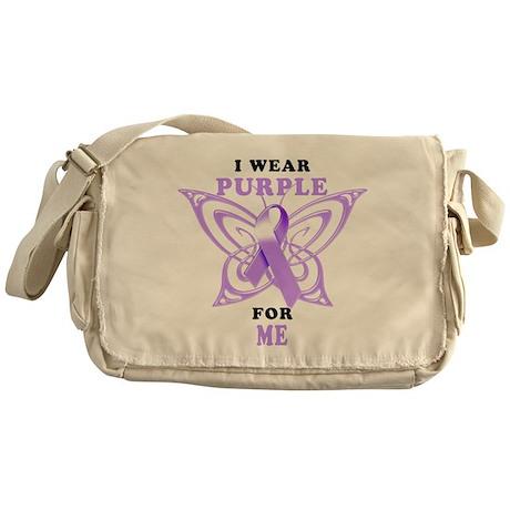 I Wear Purple for Me Messenger Bag