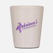 Alzheimer's Awareness Shot Glass
