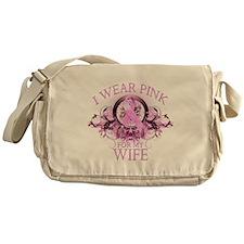 I Wear Pink for my Wife (flor Messenger Bag