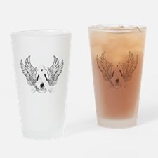 Awareness Tribal White Drinking Glass