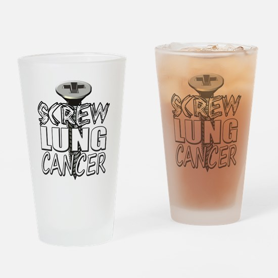 Screw Lung Cancer Drinking Glass
