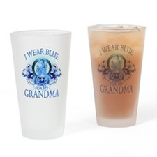 I Wear Blue for my Grandpa (f Drinking Glass