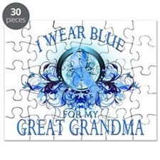 I Wear Blue for my Great Gran Puzzle