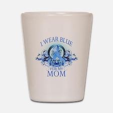 I Wear Blue for my Mom (flora Shot Glass