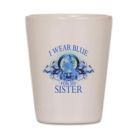 I Wear Blue for my Sister (fl Shot Glass