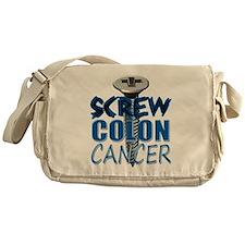 Screw Colon Cancer Messenger Bag