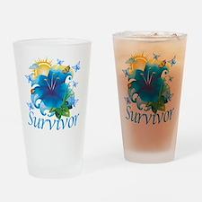 Survivor Flower Drinking Glass