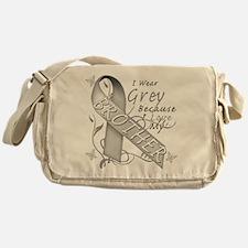I Wear Grey, I Love My Brothe Messenger Bag
