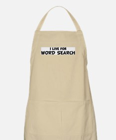 Live For WORD SEARCH BBQ Apron