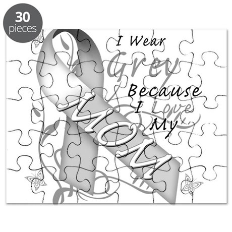 I Wear Grey, I Love My Mom Puzzle