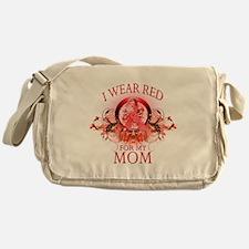 I Wear Red For My Mom (floral Messenger Bag