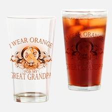 I Wear Orange for my Great Gr Drinking Glass