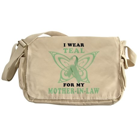 I Wear Teal for my Mother-In- Messenger Bag