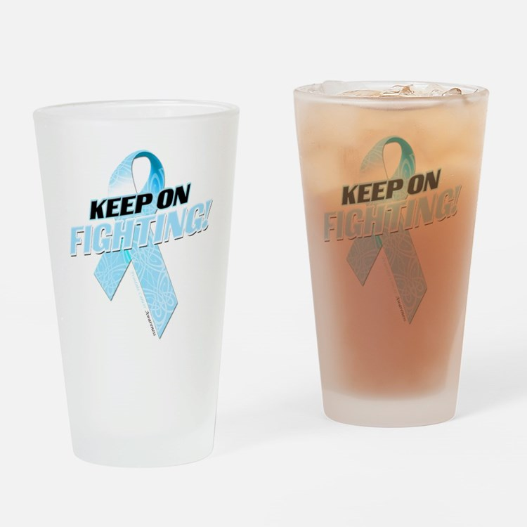 Keep on Fighting! Drinking Glass