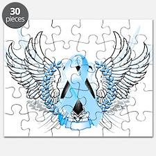 Awareness Tribal Light Blue Puzzle