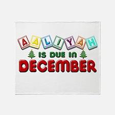 Aaliyah is Due in December Throw Blanket