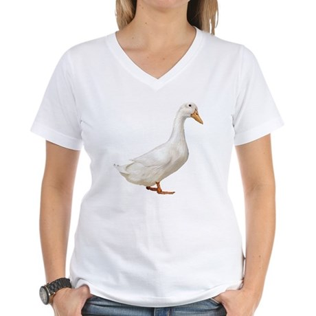 Duck Women's V-Neck T-Shirt