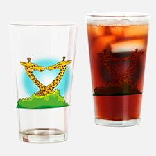 Giraffe Love Drinking Glass