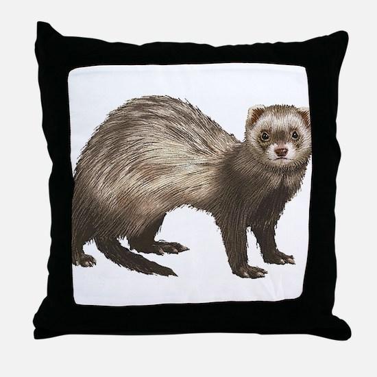Ferret Throw Pillow
