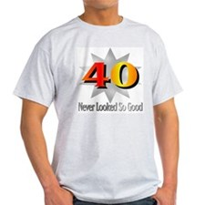 40th Birthday Ash Grey T-Shirt