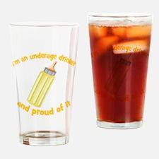 Underage Drinker Drinking Glass