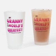 World's Greatest Granny (pink Drinking Glass