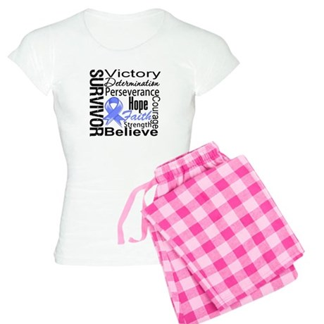 Stomach Cancer Survivor Women's Light Pajamas