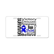 Rectal Cancer Survivor Aluminum License Plate