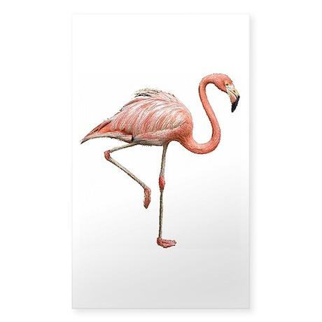Flamingo Sticker (Rectangle)