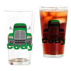 Trucker Cody Drinking Glass