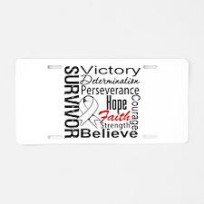 Lung Cancer Survivor Aluminum License Plate