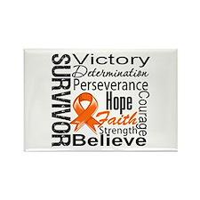 Kidney Cancer Survivor Rectangle Magnet (10 pack)