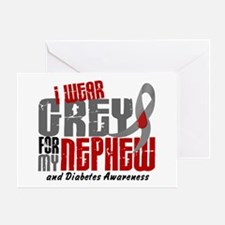 I Wear Grey 6 Diabetes Greeting Card