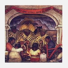 Diego Rivera Mural Art Tile Coaster Revolution