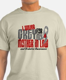 I Wear Grey 6 Diabetes T-Shirt