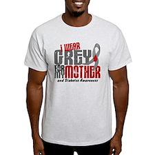 I Wear Grey 6 Diabetes T-Shirt