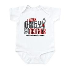 I Wear Grey 6 Diabetes Infant Bodysuit
