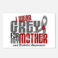 I Wear Grey 6 Diabetes Postcards (Package of 8)