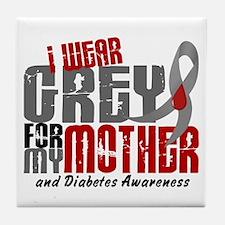I Wear Grey 6 Diabetes Tile Coaster