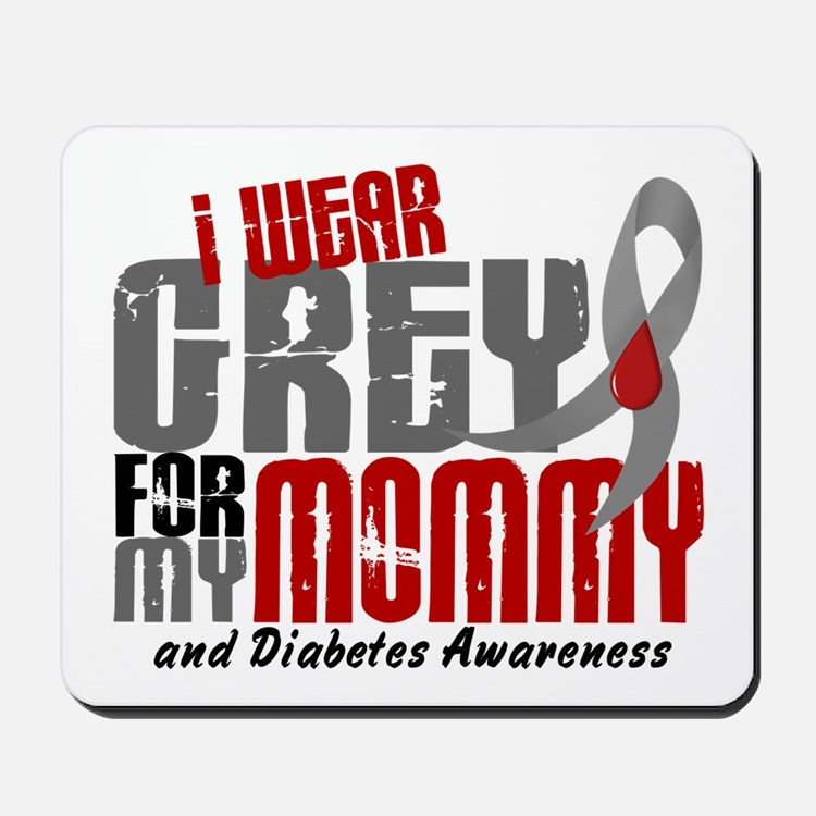I Wear Grey 6 Diabetes Mousepad