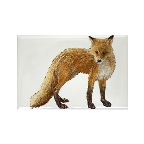 Fox Rectangle Magnet