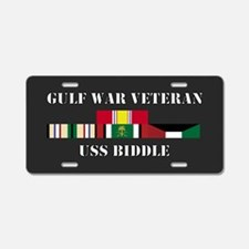 USS Biddle Gulf War Veteran Aluminum License Plate