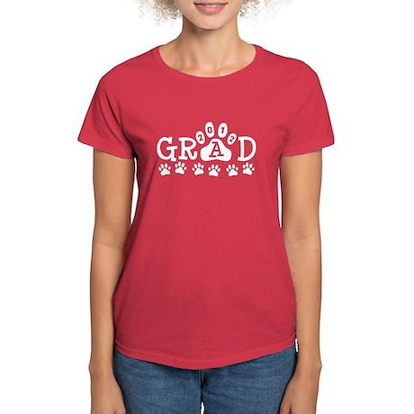 Grad 2012 Paws Women's Dark T-Shirt
