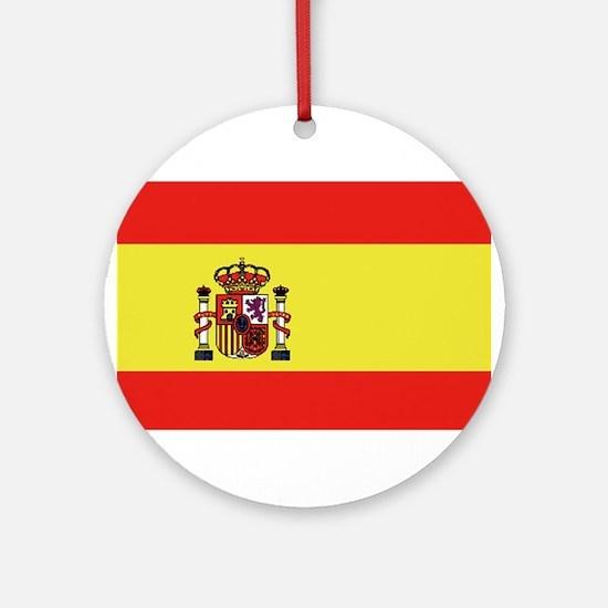 Bandera de España Round Ornament