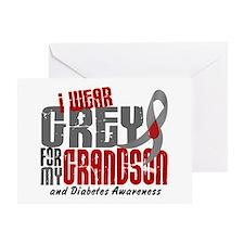 I Wear Grey 6 Diabetes Greeting Card