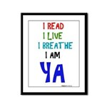Young Adult Book Lovers Framed Panel Print