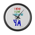 Young Adult Book Lovers Large Wall Clock