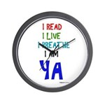 Young Adult Book Lovers Wall Clock