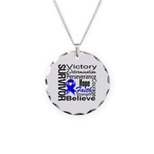 Colon Cancer Survivor Necklace Circle Charm