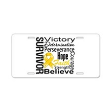 Childhood Cancer Survivor Aluminum License Plate